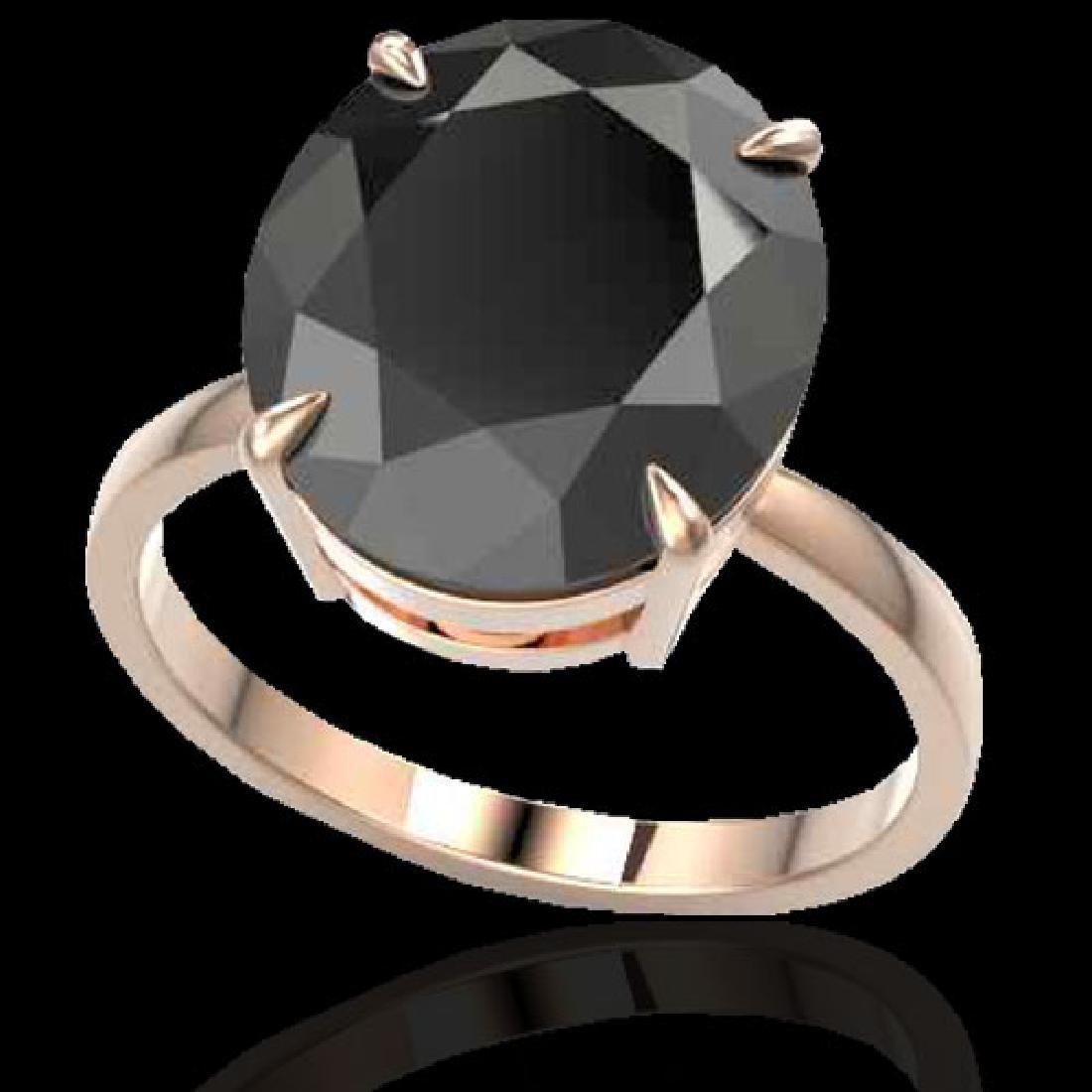 9 CTW Black VS/SI Diamond Designer Engagement Ring 14K - 2