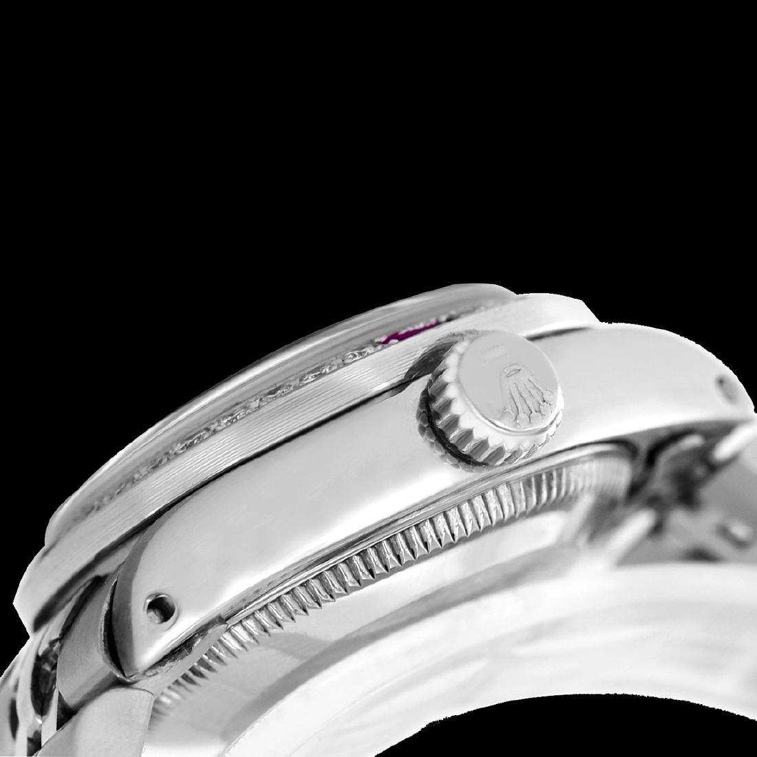 Rolex Men's Stainless Steel, QuickSet, Diam/Ruby Dial & - 3
