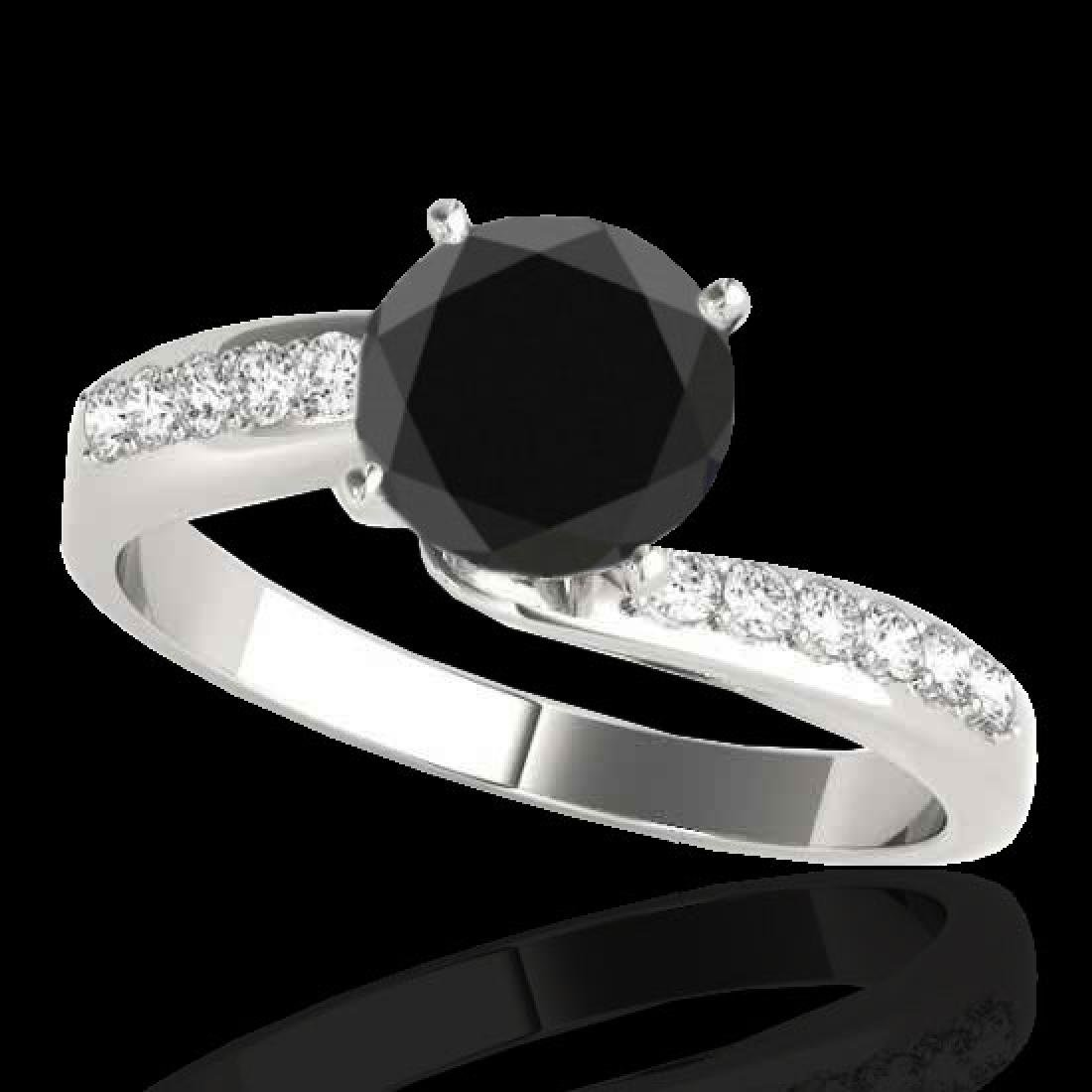 1.4 CTW Certified VS Black Diamond Bypass Solitaire