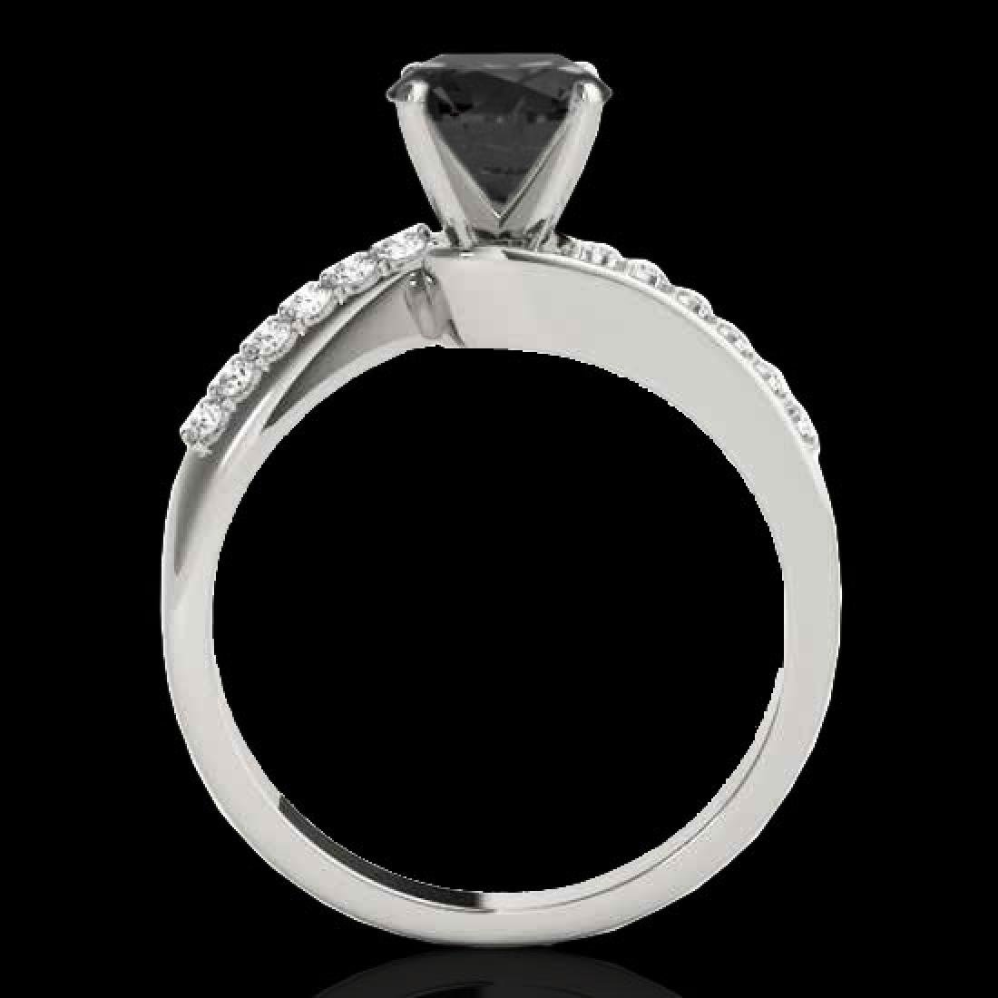 1.4 CTW Certified VS Black Diamond Bypass Solitaire - 2