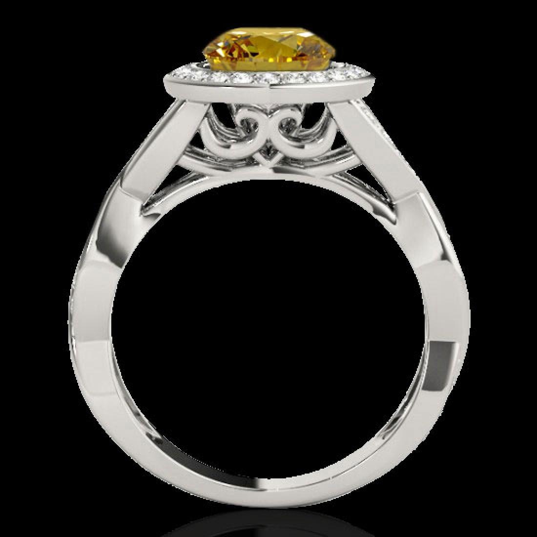 1.75 CTW Certified SI/I Fancy Intense Yellow Diamond - 2