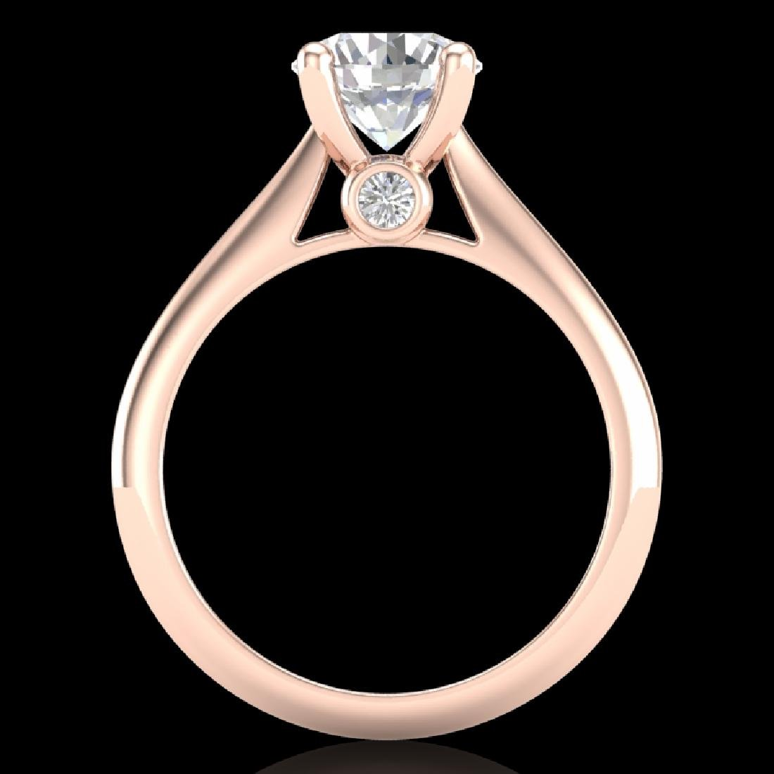 1.6 CTW VS/SI Diamond Art Deco Ring 18K Rose Gold - 3