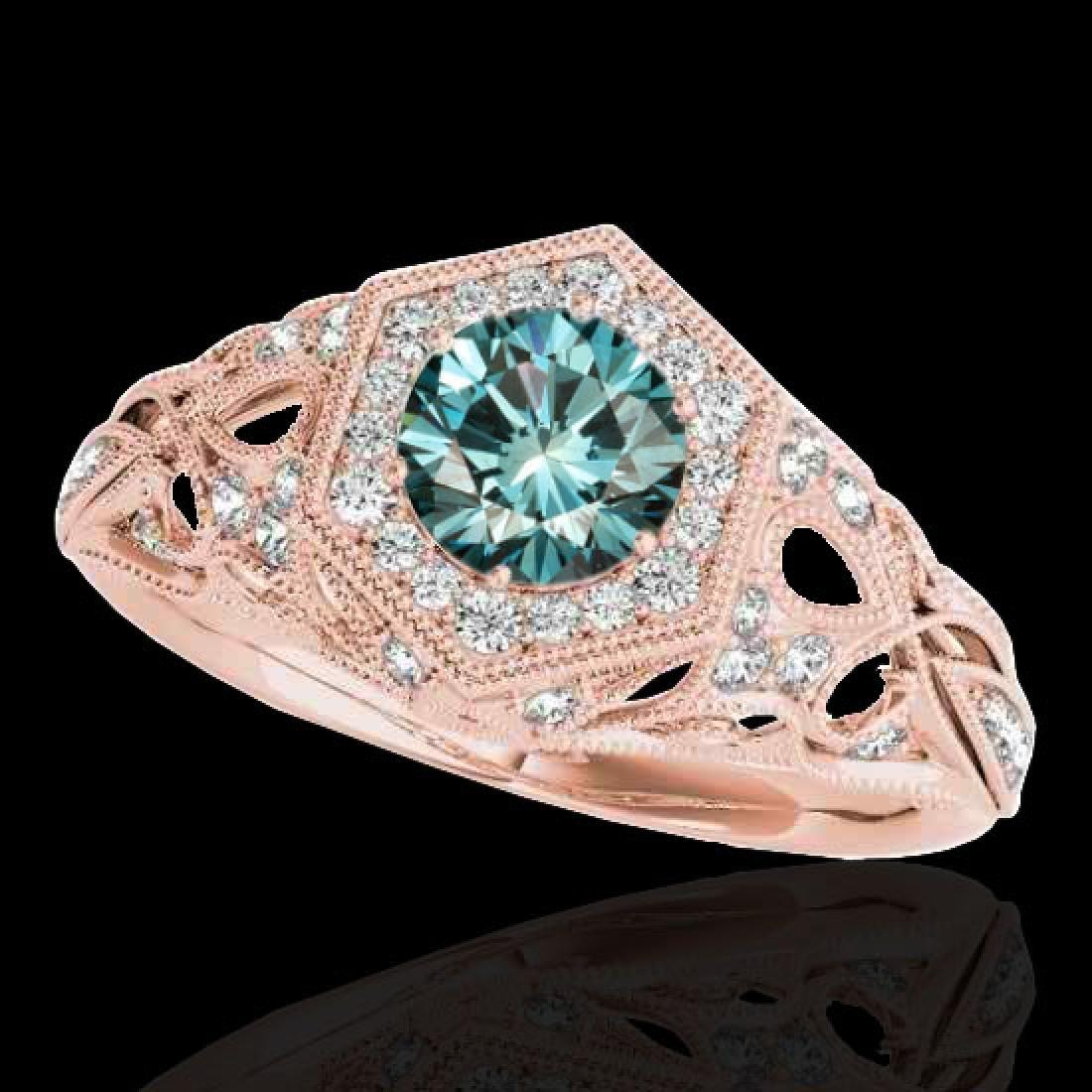 1.4 CTW SI Certified Fancy Blue Diamond Solitaire