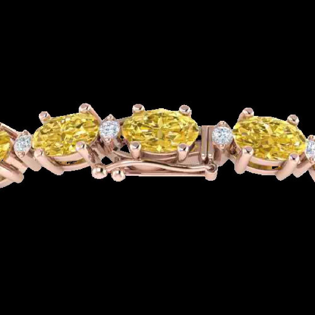 25.8 CTW Citrine & VS/SI Certified Diamond Eternity