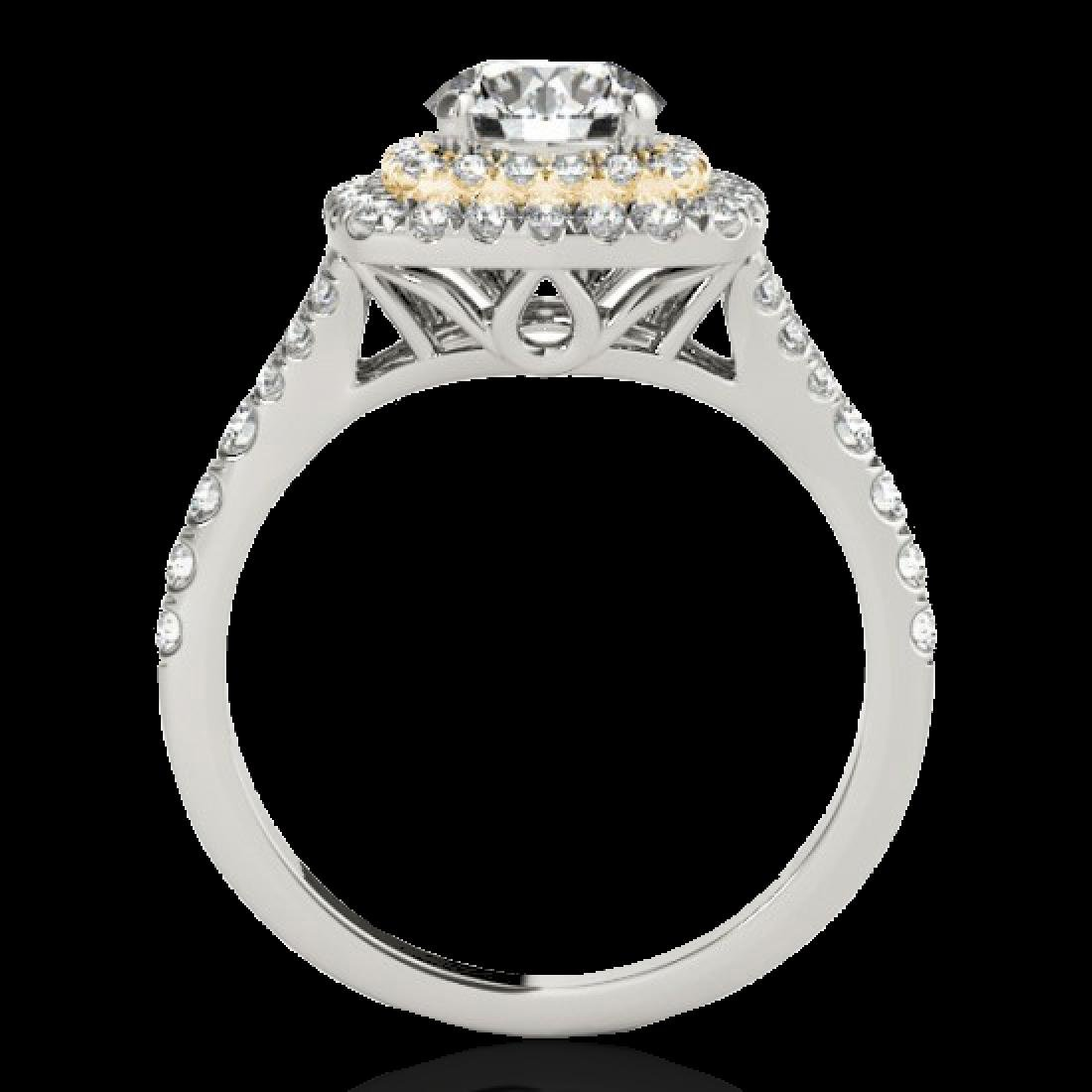 1.6 CTW H-SI/I Certified Diamond Solitaire Halo Ring - 2