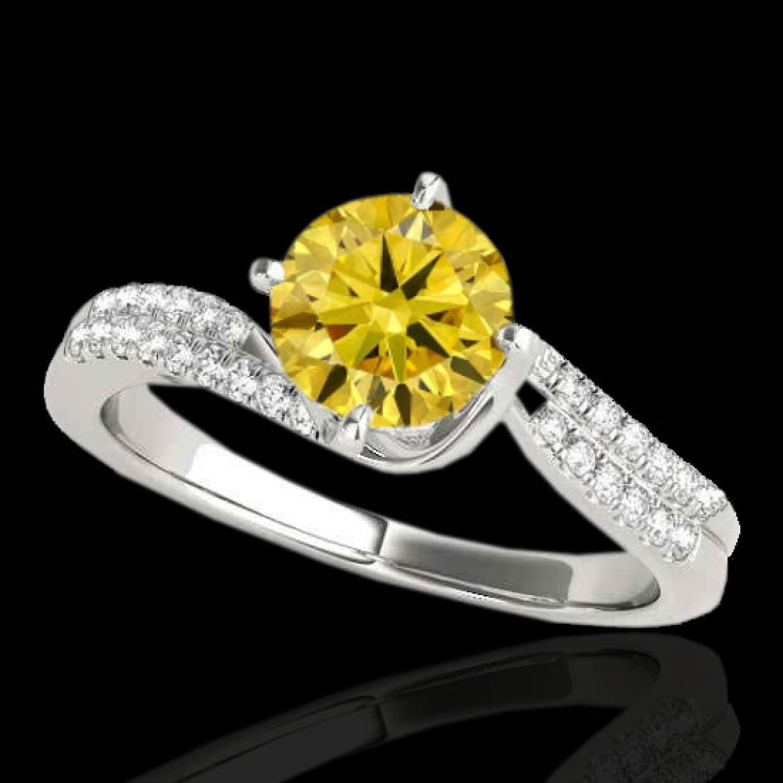 1.2 CTW Certified Si Fancy Yellow Diamond Bypass