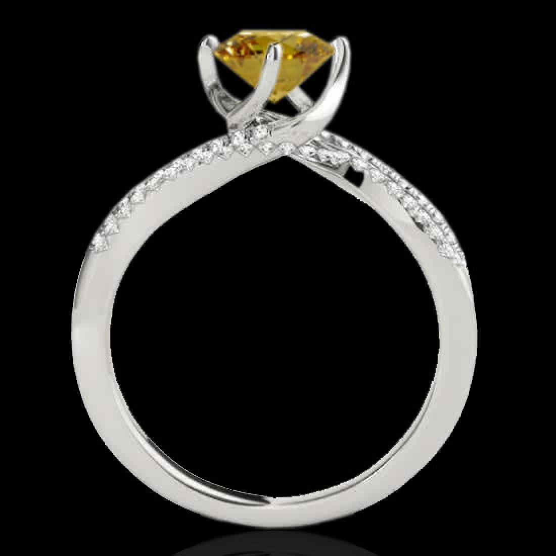 1.2 CTW Certified Si Fancy Yellow Diamond Bypass - 2
