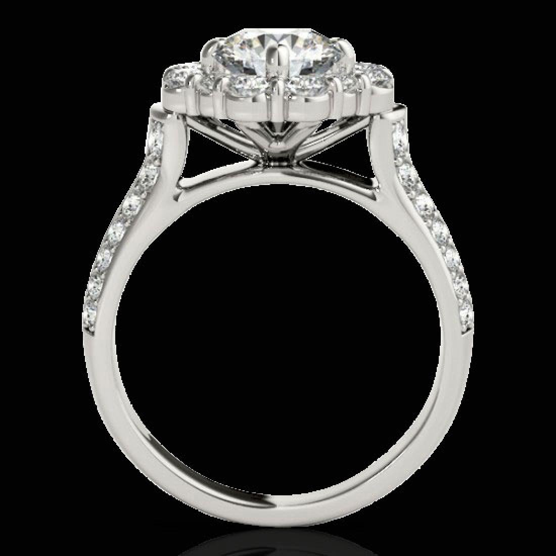 2.81 CTW H-SI/I Certified Diamond Solitaire Halo Ring - 2