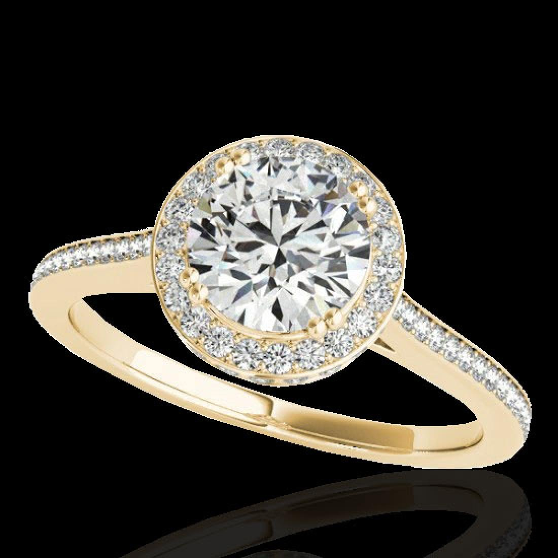 2.03 CTW H-SI/I Certified Diamond Solitaire Halo Ring