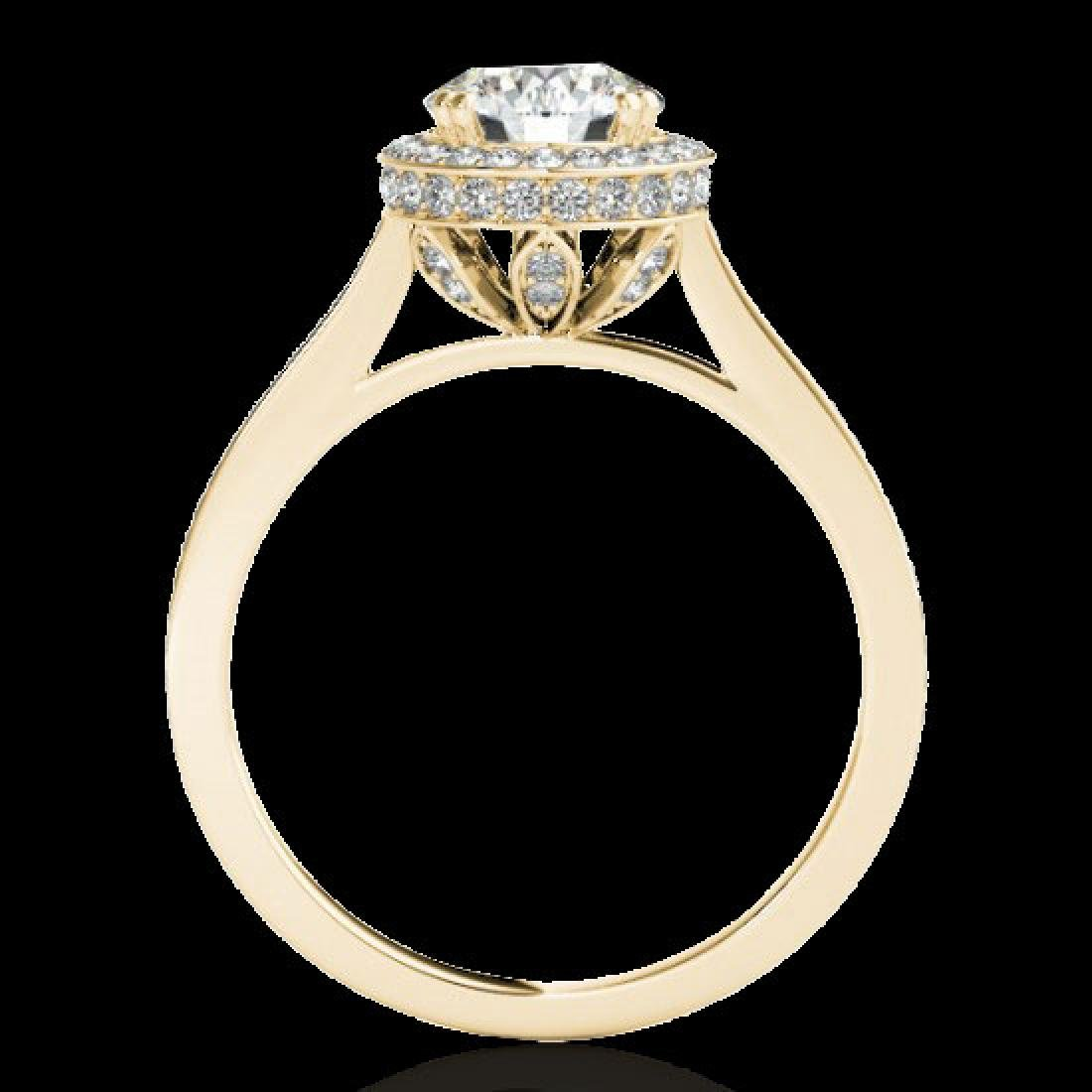 2.03 CTW H-SI/I Certified Diamond Solitaire Halo Ring - 2