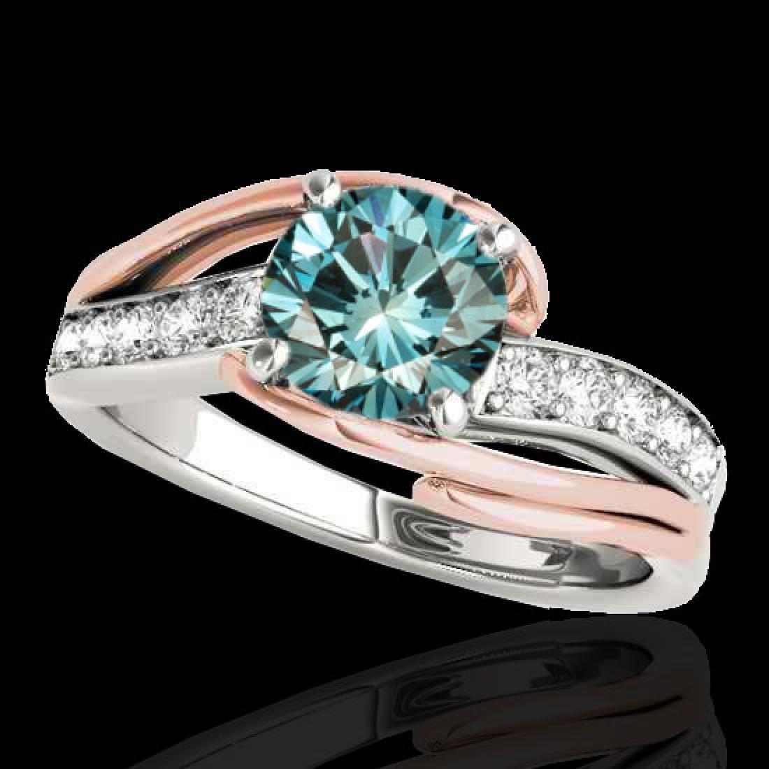 1.25 CTW SI Certified Fancy Blue Diamond Bypass