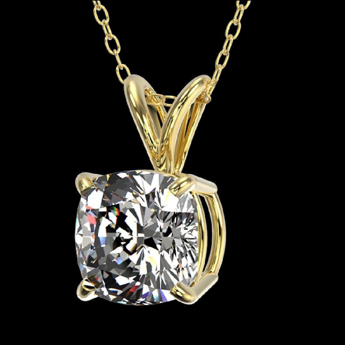 1 CTW Certified VS/SI Quality Cushion Cut Diamond - 2