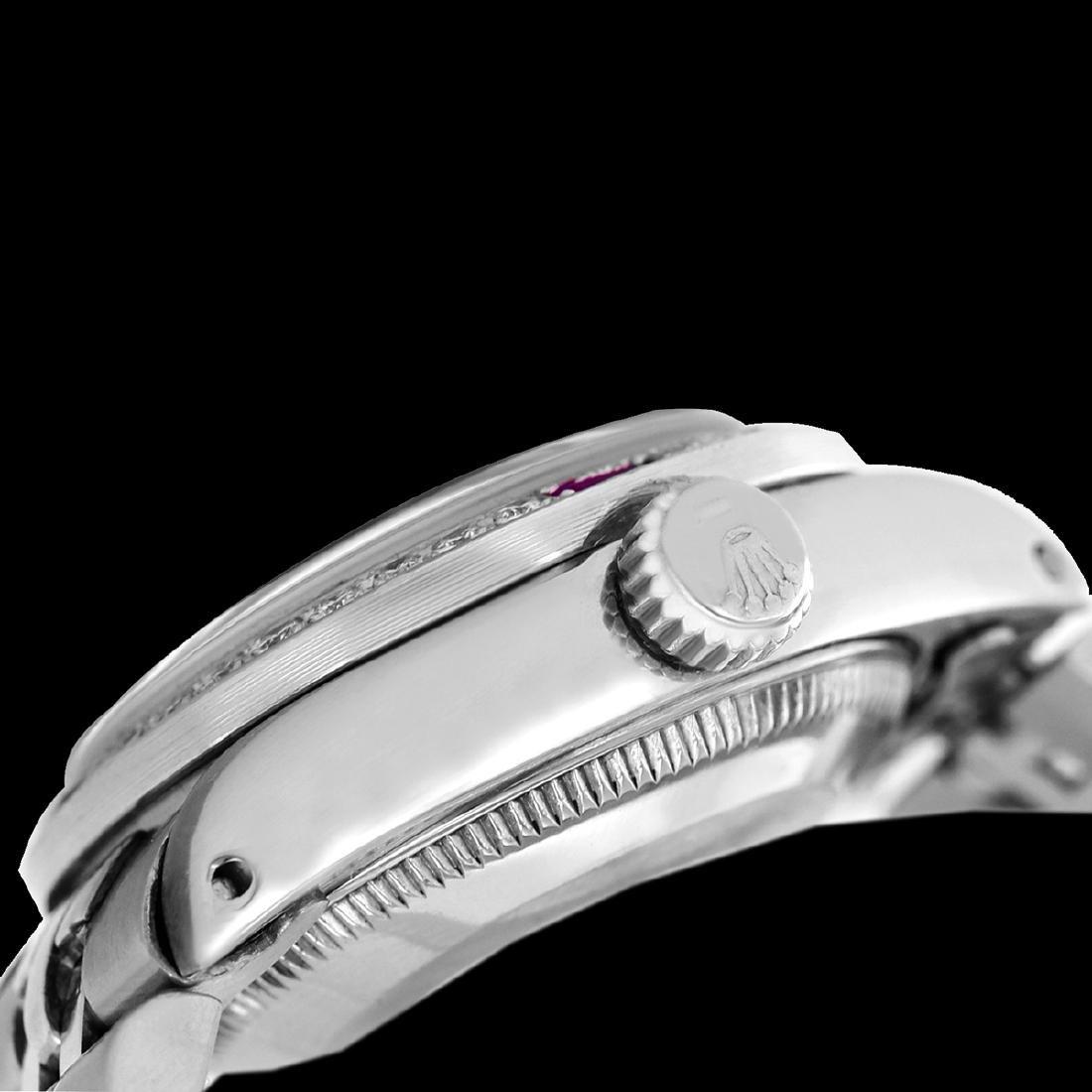Rolex Ladies Stainless Steel, Diam Dial & Diam/Ruby - 3