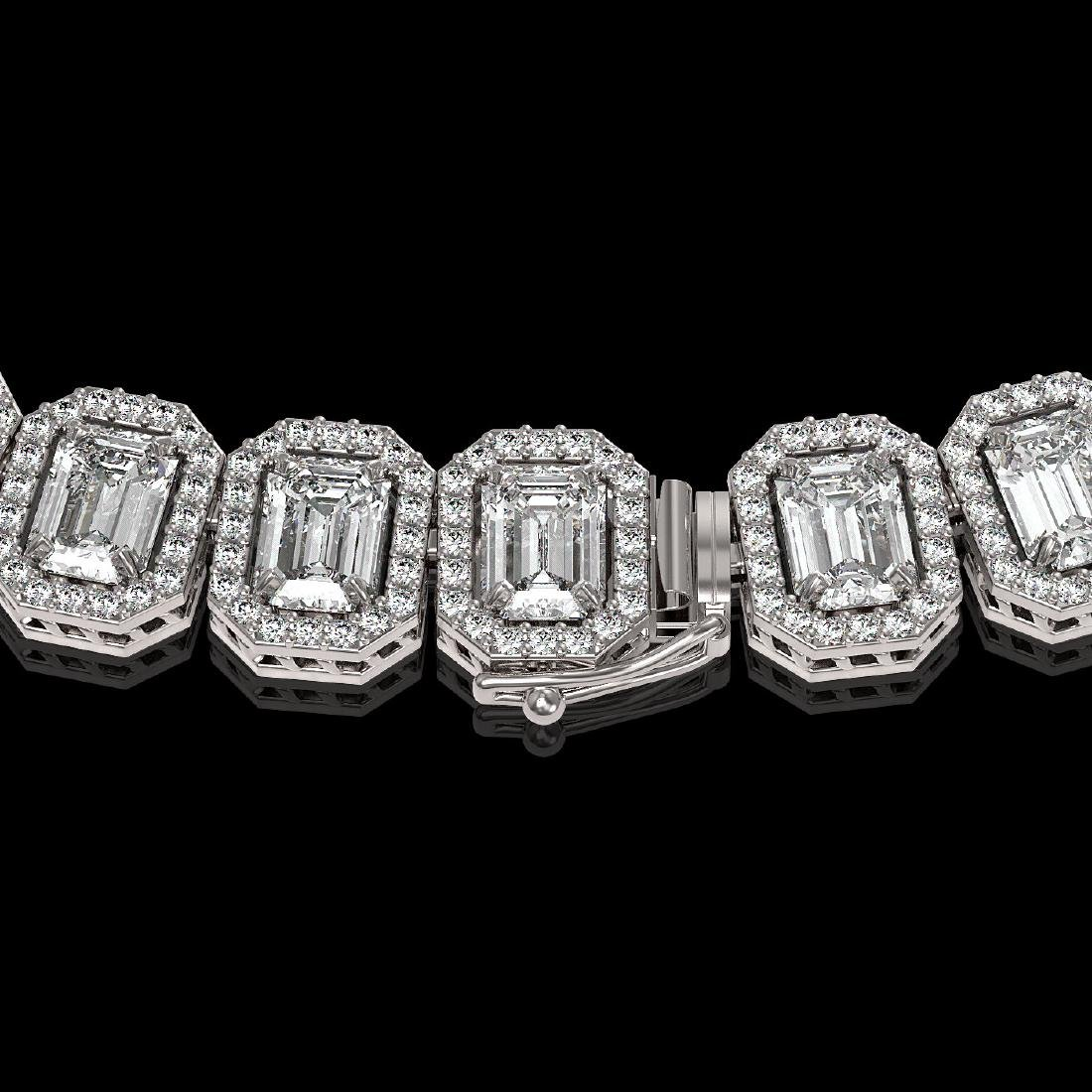 40.3 CTW Emerald Cut Diamond Designer Necklace 18K - 3