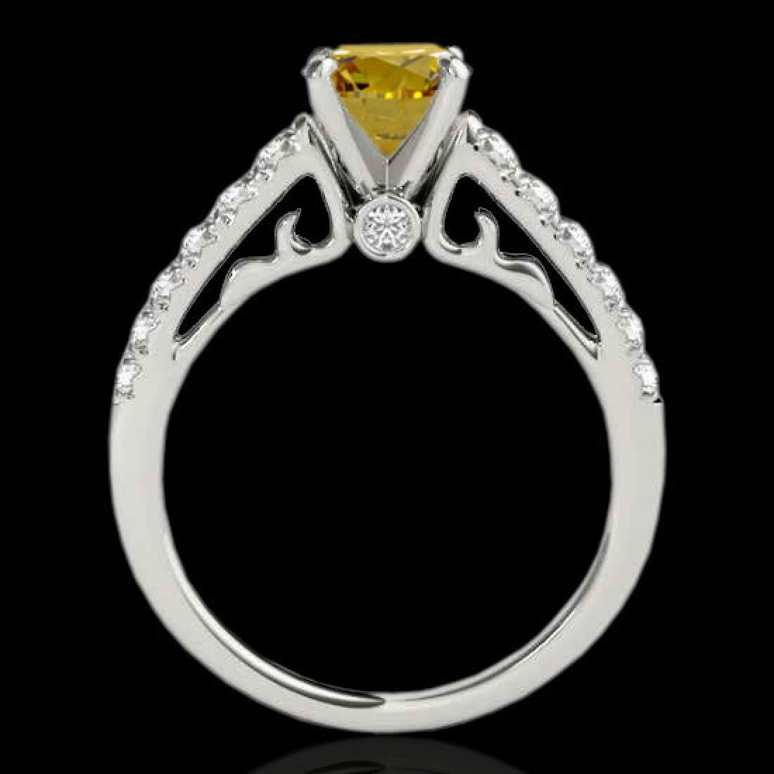 1.75 CTW SI Certified Fancy Blue Diamond Solitaire Ring - 2