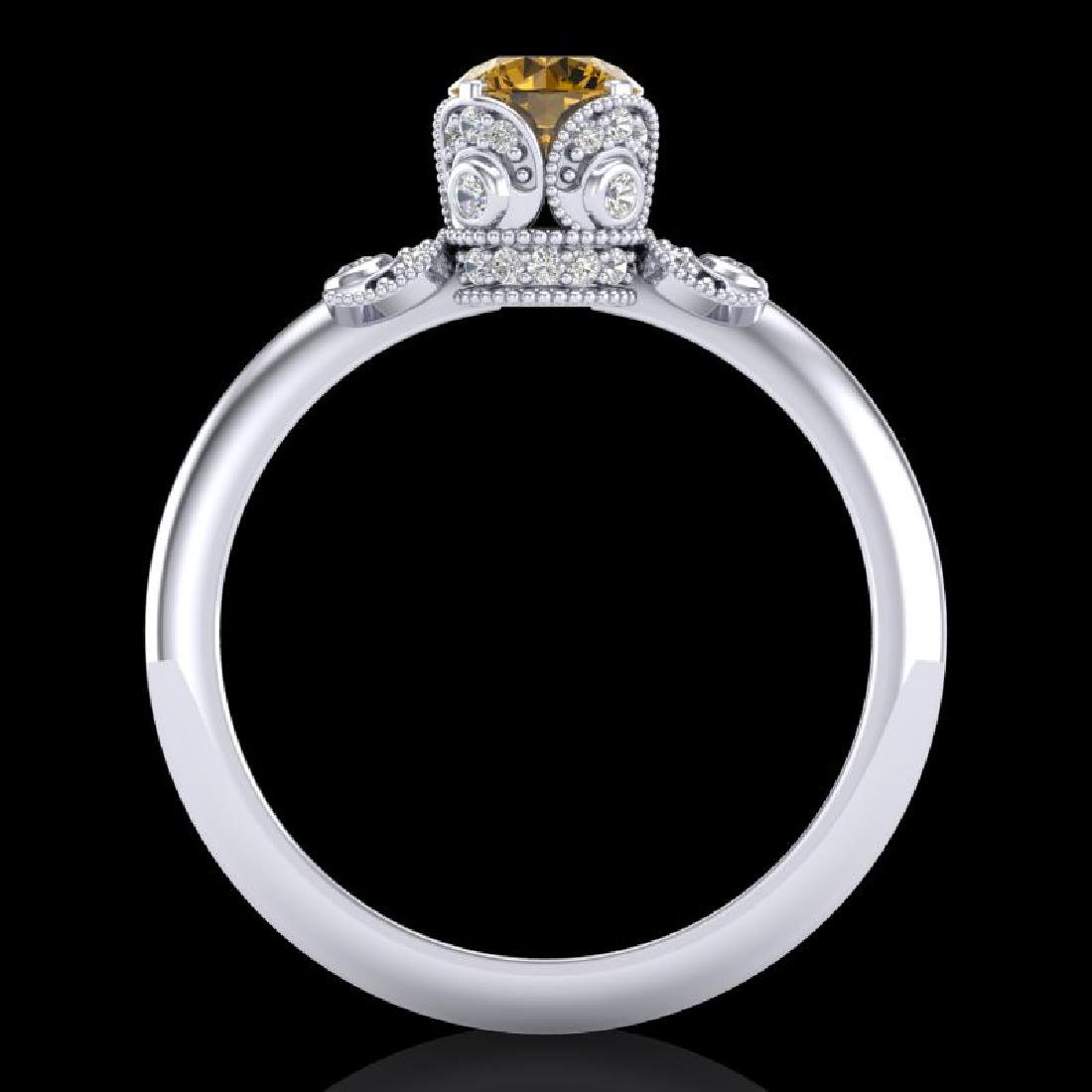 1 CTW Intense Fancy Yellow Diamond Engagement Art Deco - 3
