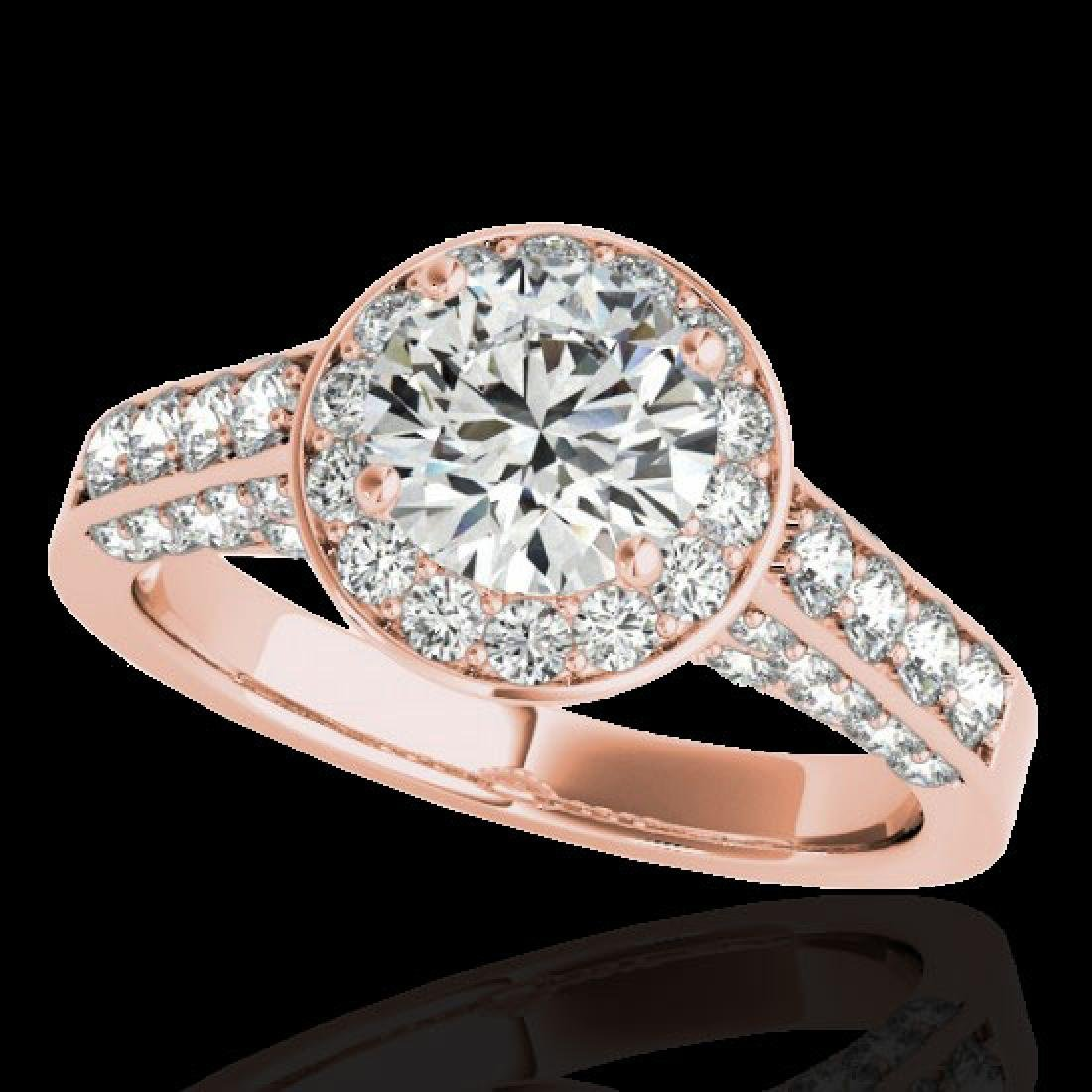 2.56 CTW H-SI/I Certified Diamond Solitaire Halo Ring