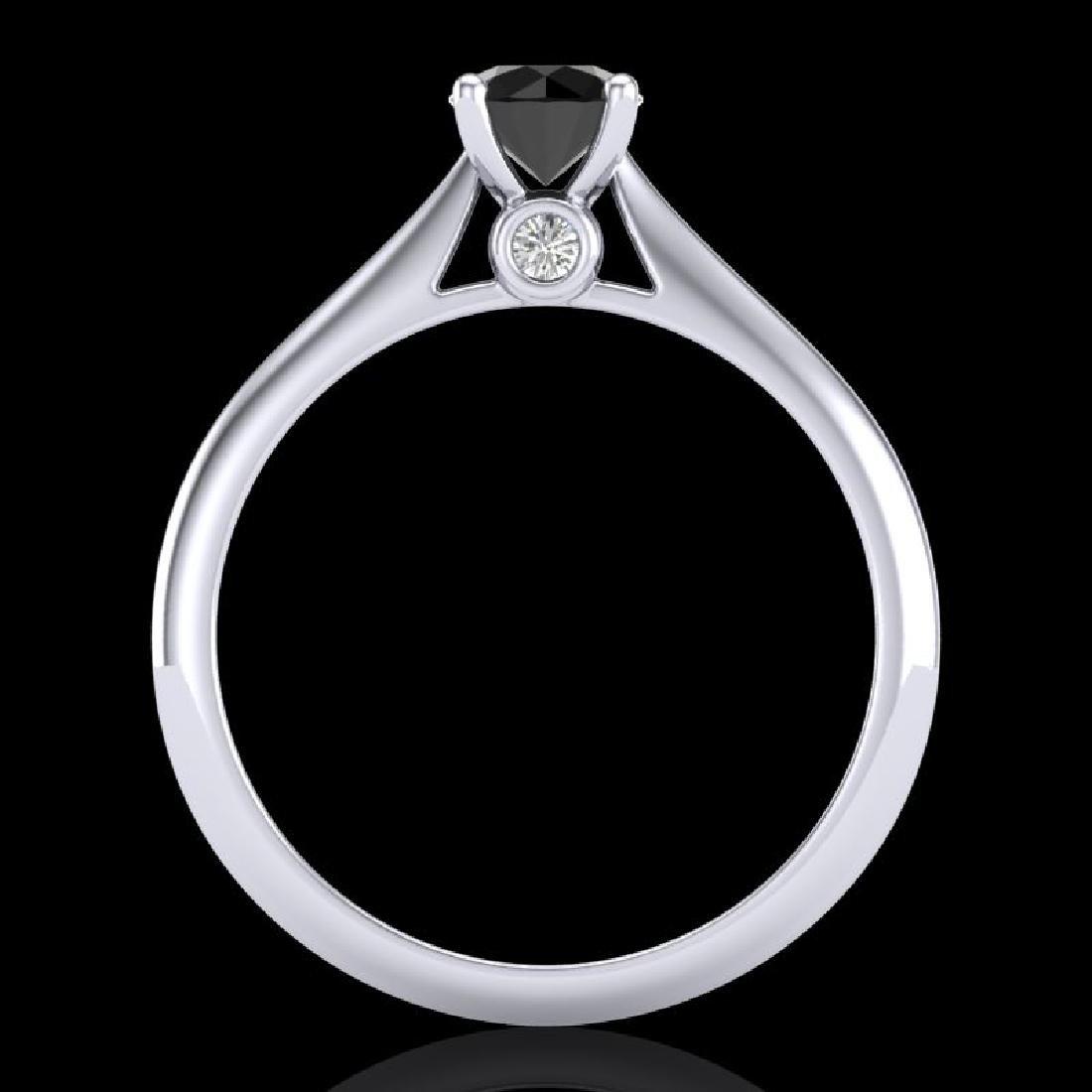 0.56 CTW Fancy Black Diamond Solitaire Engagement Art - 3