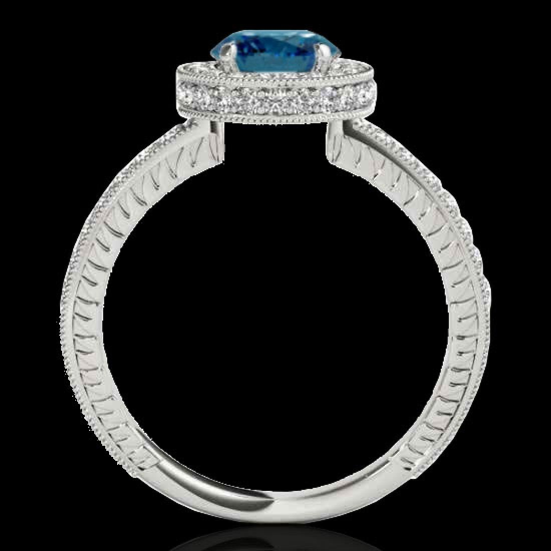 1.51 CTW SI Certified Fancy Blue Diamond Solitaire Halo - 2