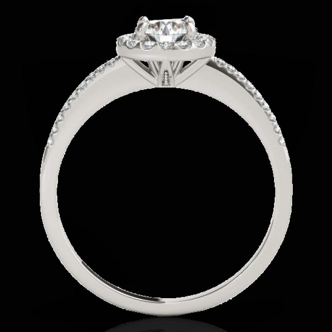 1.2 CTW H-SI/I Certified Diamond Solitaire Halo Ring - 2