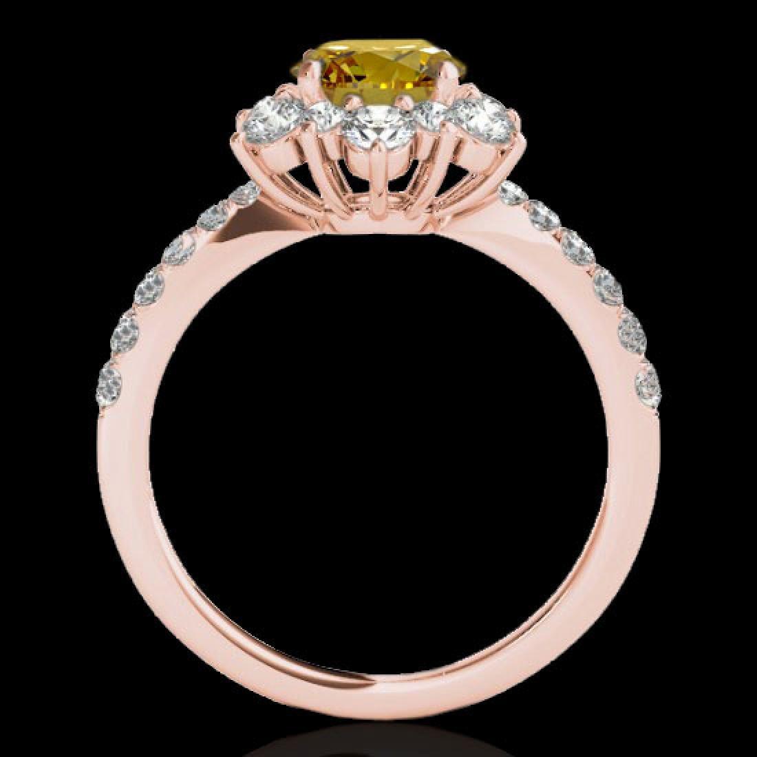 2.19 CTW Certified SI/I Fancy Intense Yellow Diamond - 2