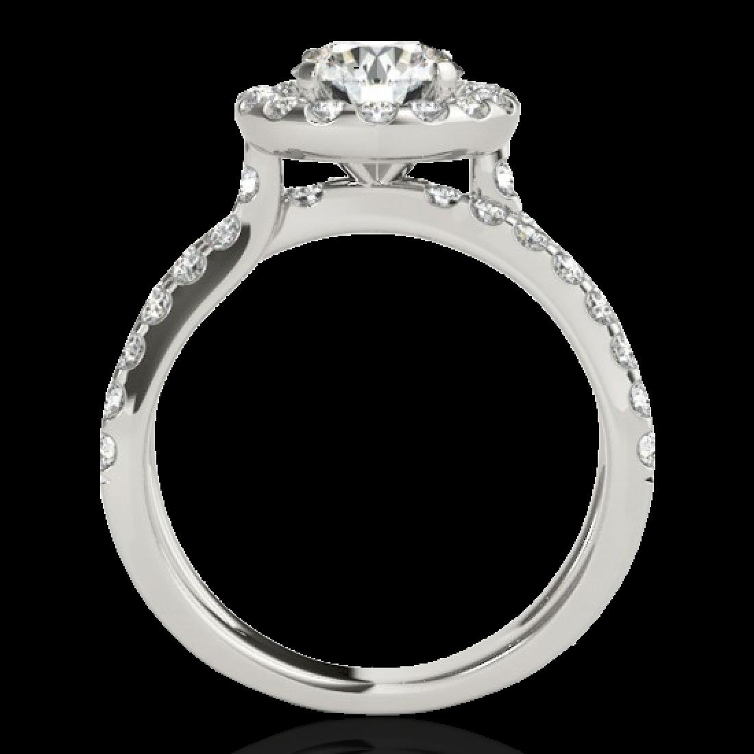 2.01 CTW H-SI/I Certified Diamond Solitaire Halo Ring - 2
