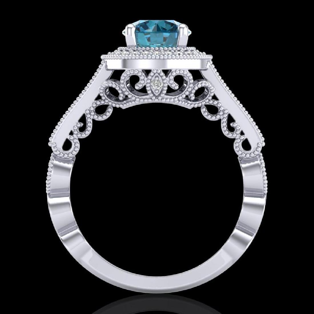 1.91 CTW Fancy Intense Blue Diamond Solitaire Art Deco - 3
