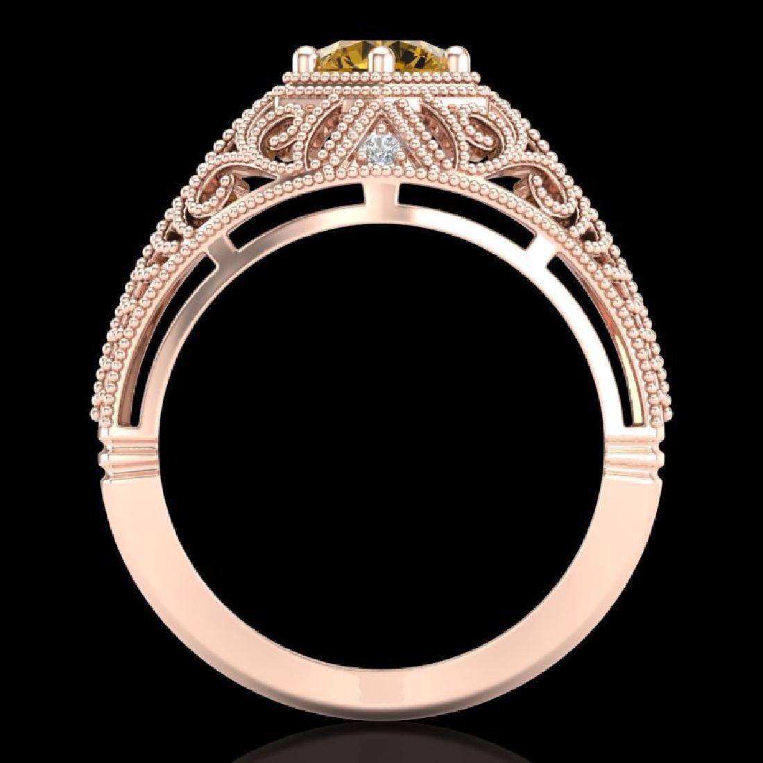 1.07 CTW Intense Fancy Yellow Diamond Engagement Art - 3