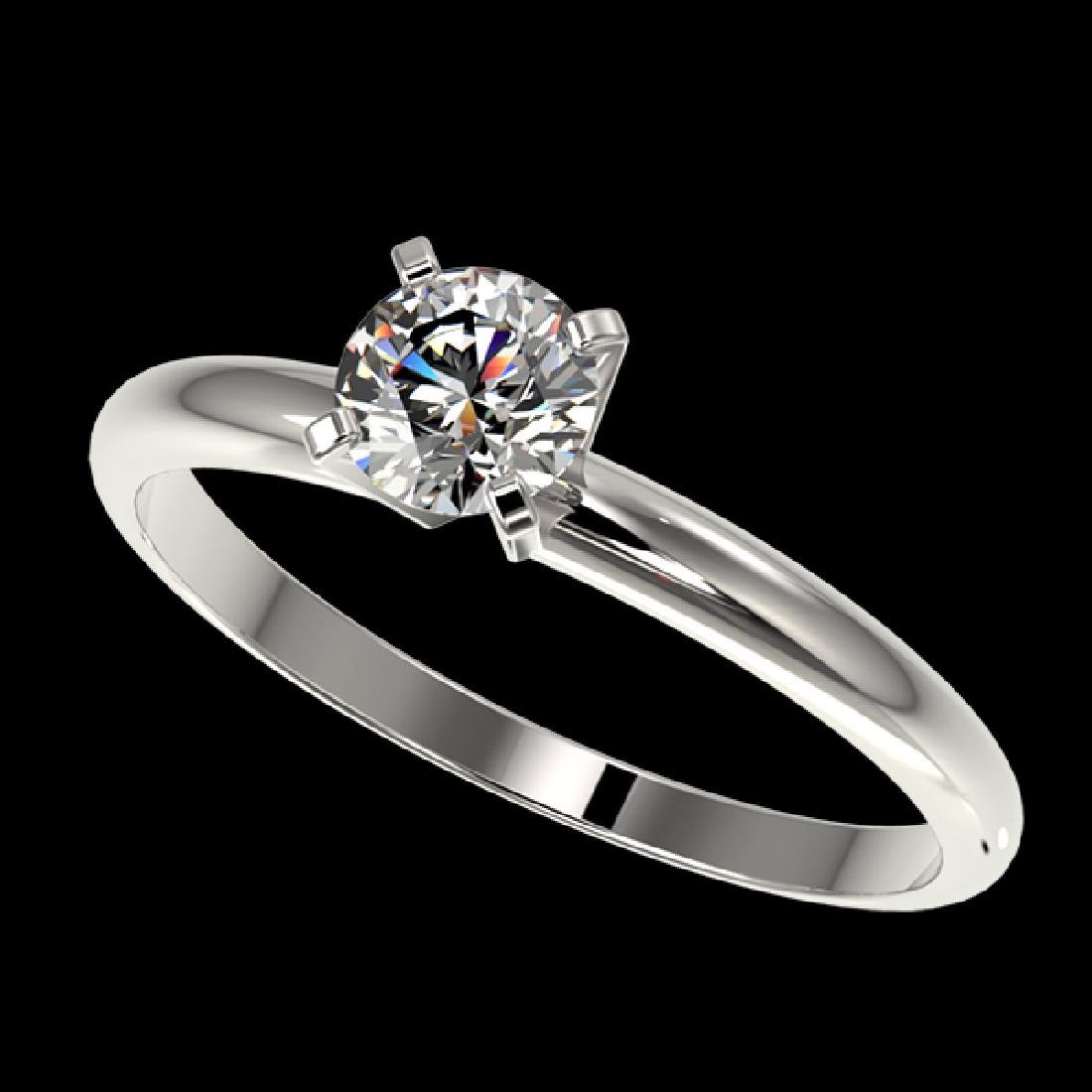 0.52 CTW Certified H-SI/I Quality Diamond Solitaire