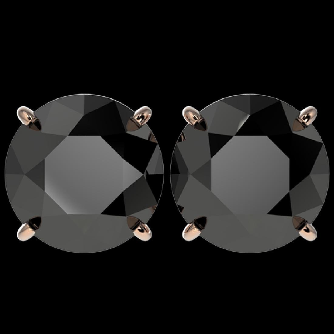 5.15 CTW Fancy Black VS Diamond Solitaire Stud Earrings