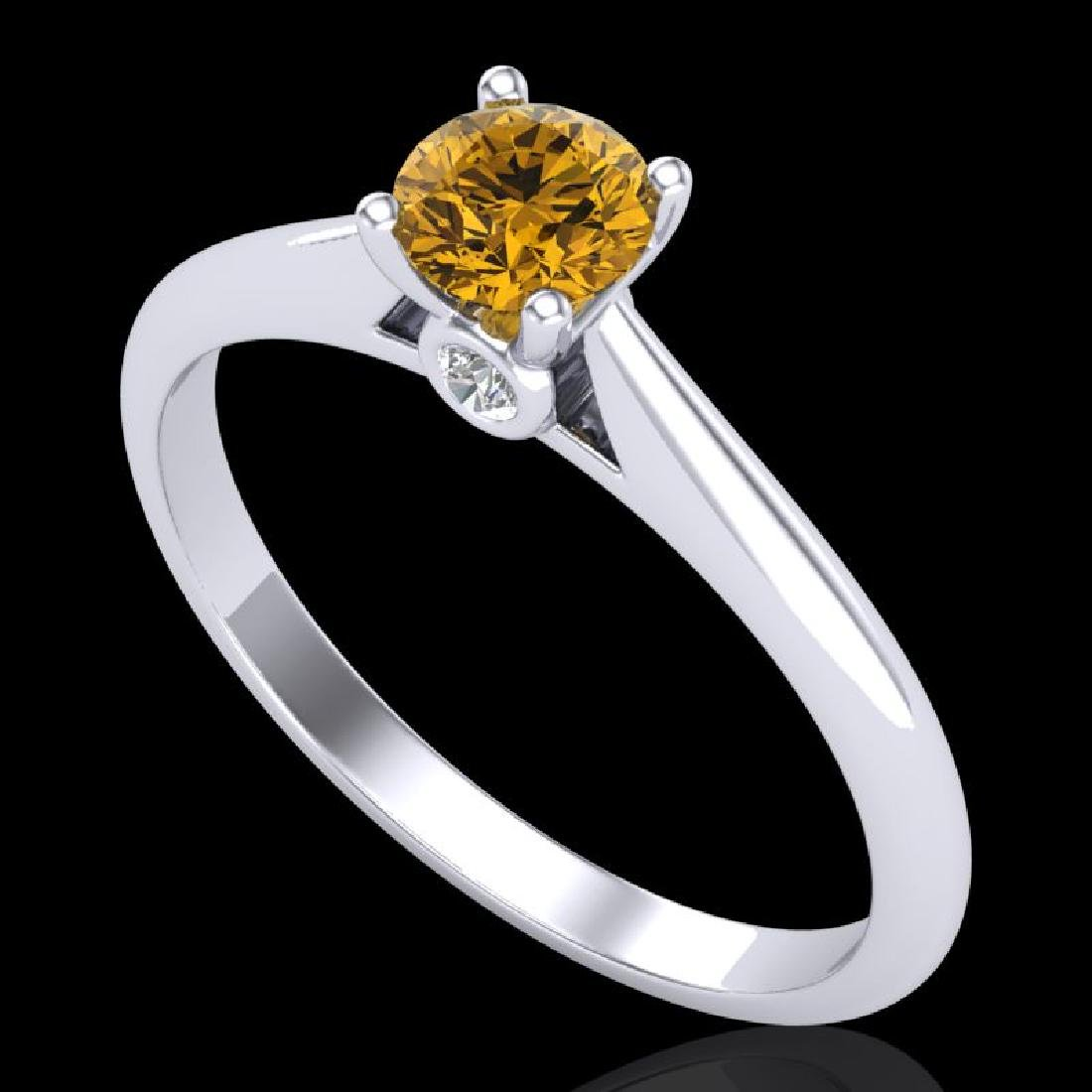 0.4 CTW Intense Fancy Yellow Diamond Engagement Art