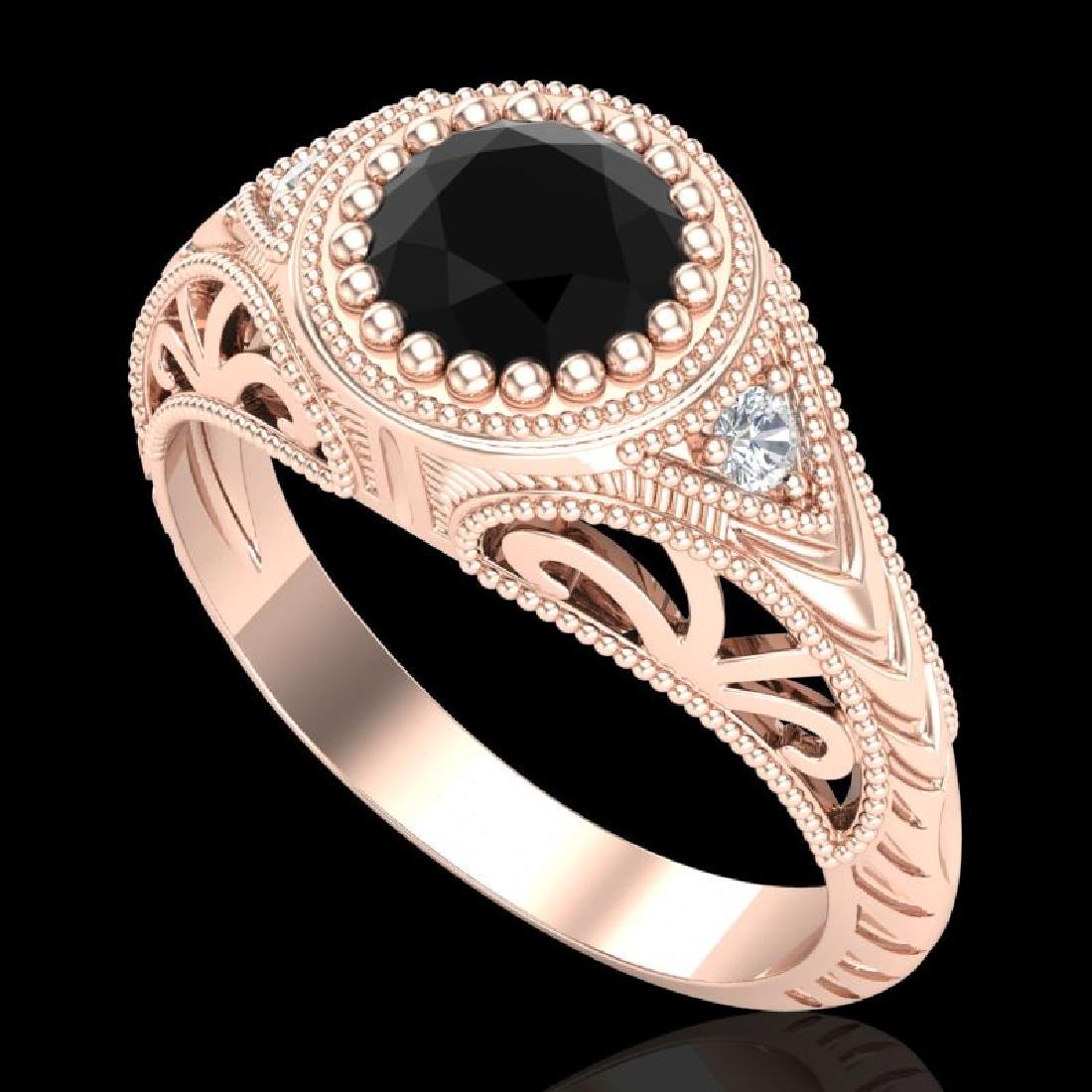 1.07 CTW Fancy Black Diamond Solitaire Engagement Art