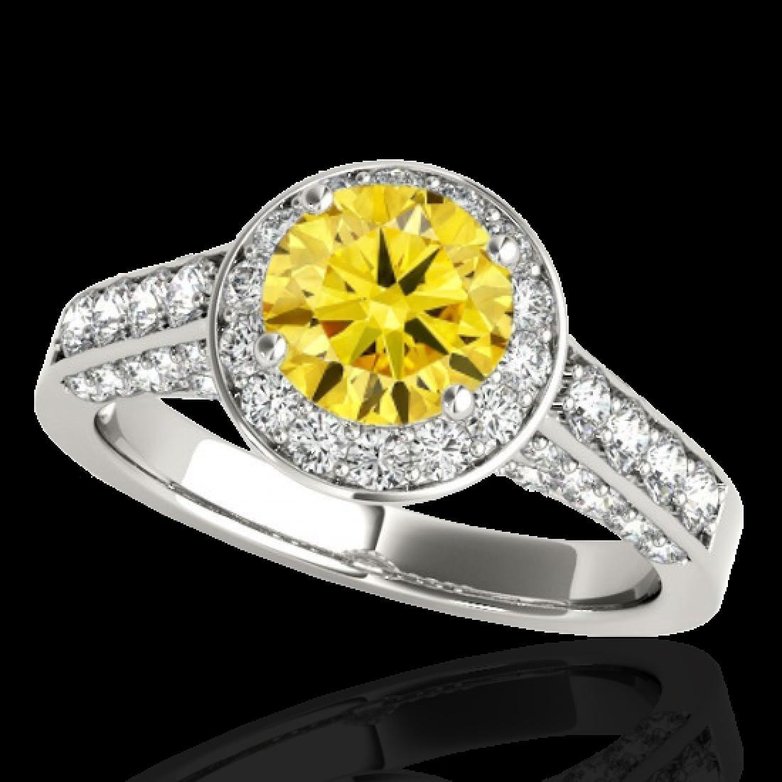1.8 CTW Certified SI/I Fancy Intense Yellow Diamond