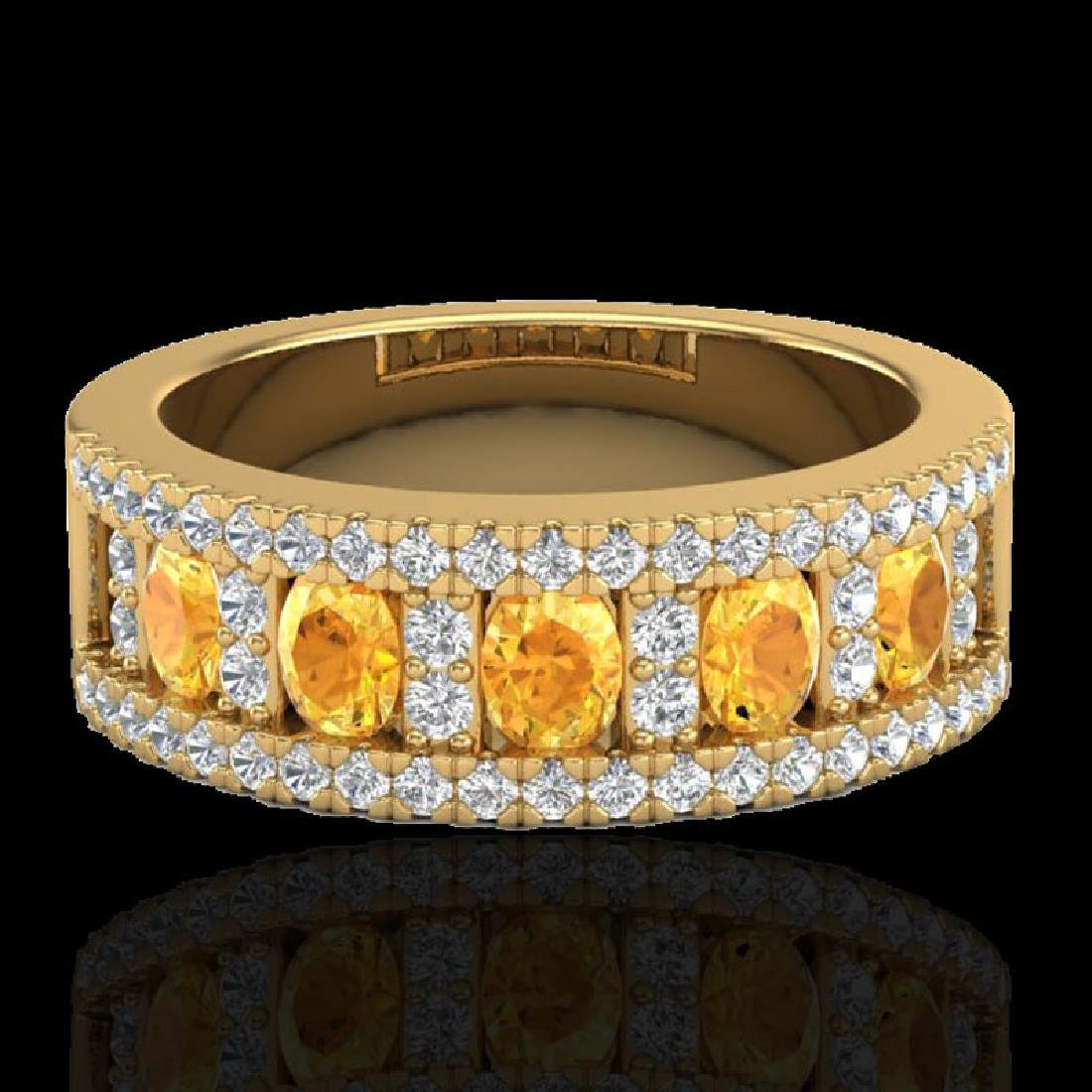 2 CTW Citrine & Micro VS/SI Diamond Inspired Ring 10K