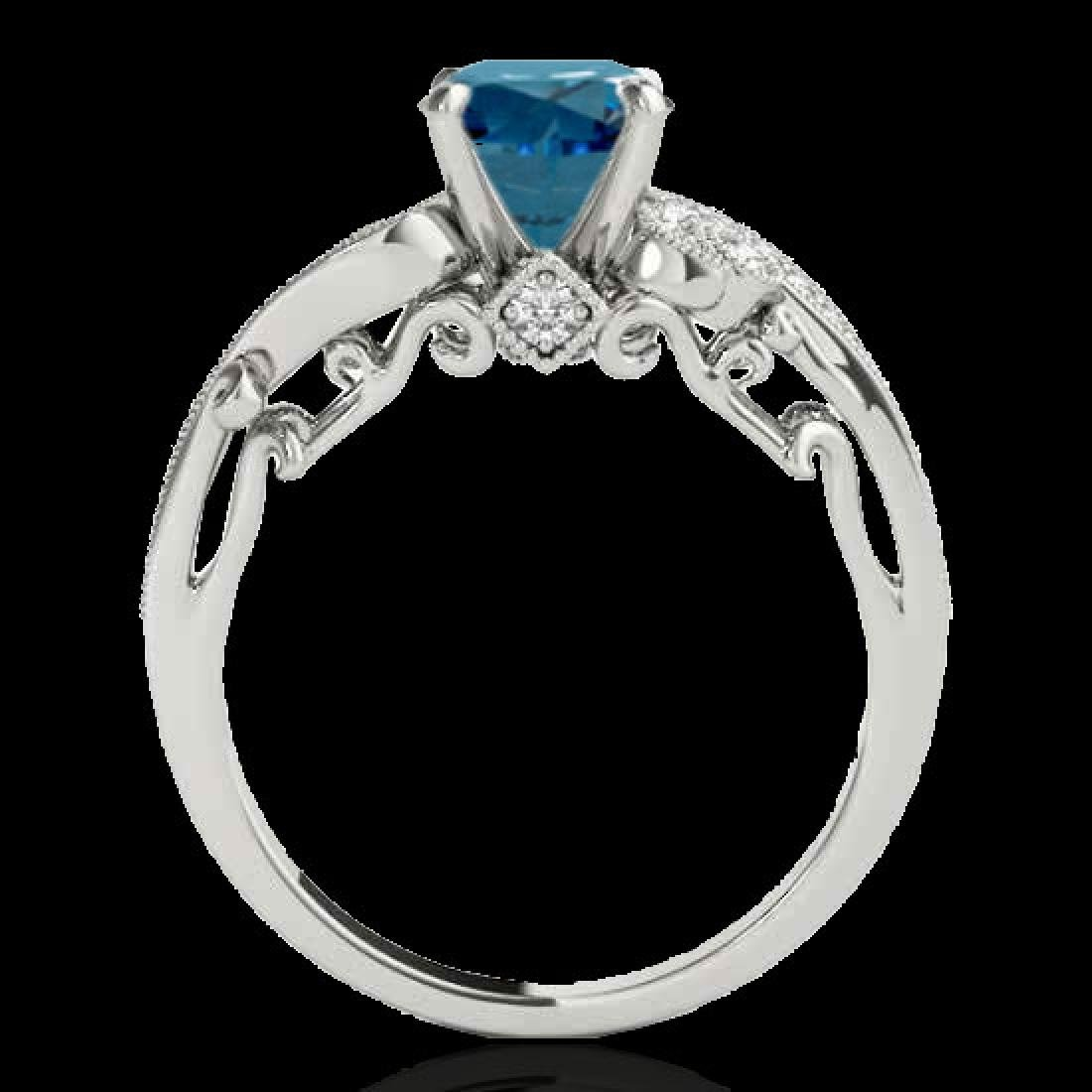 1.25 CTW SI Certified Fancy Blue Diamond Solitaire - 2