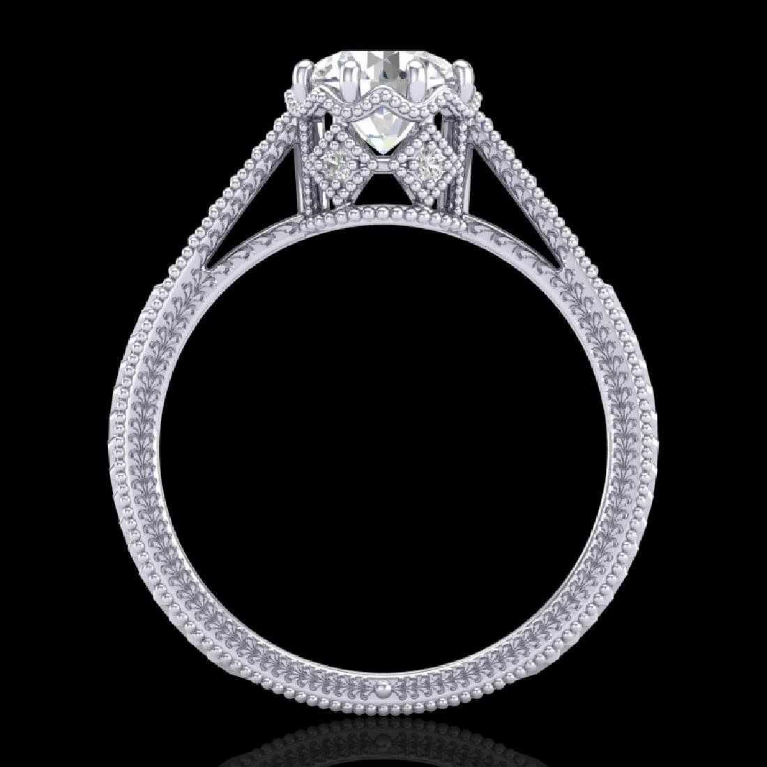 1.25 CTW VS/SI Diamond Art Deco Ring 18K White Gold