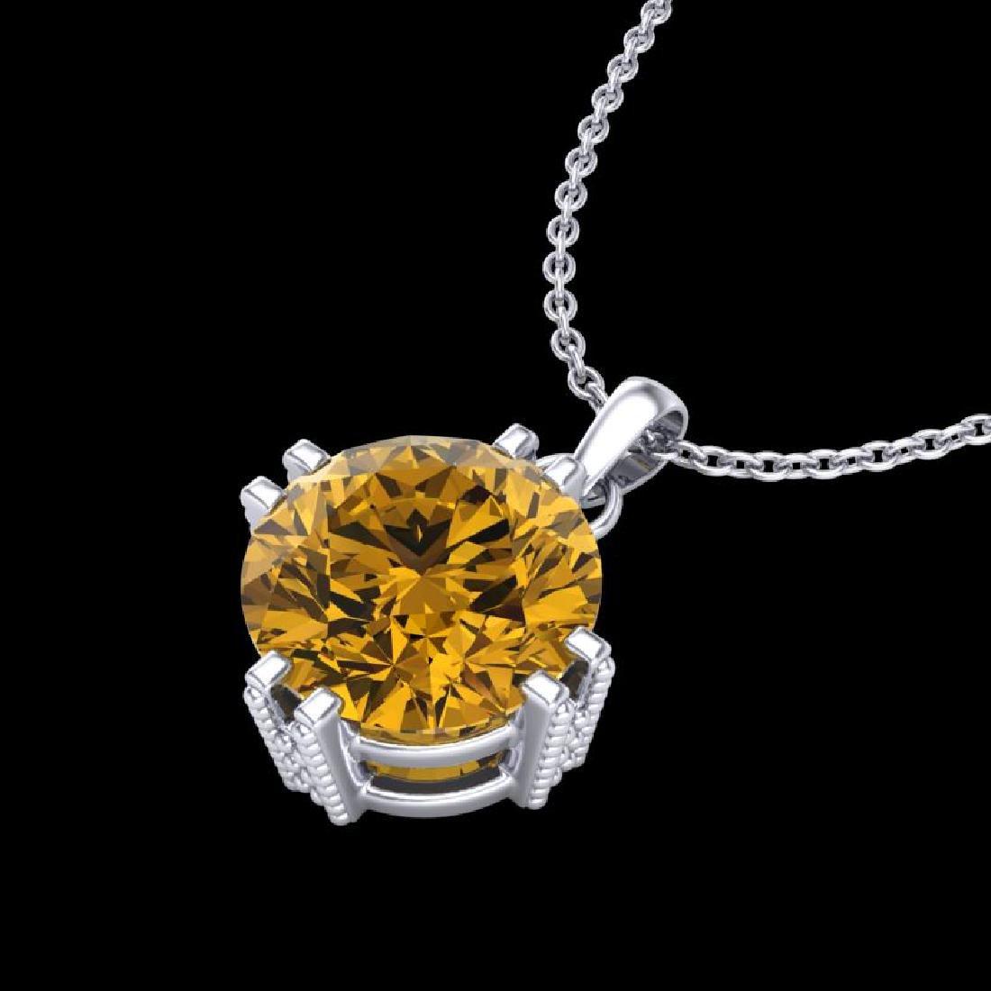 1 CTW Intense Fancy Yellow Diamond Solitaire Art Deco - 2