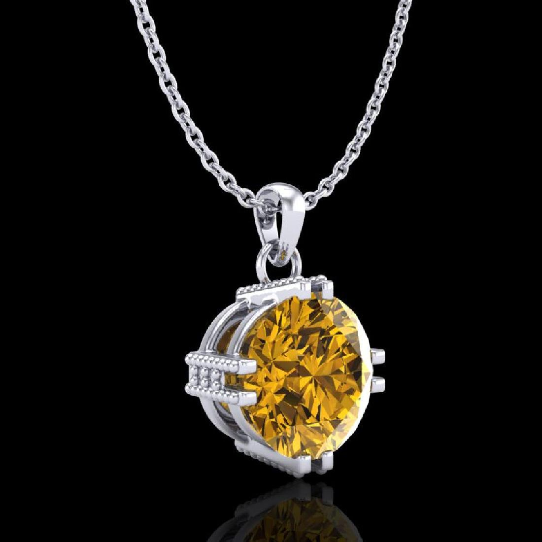1 CTW Intense Fancy Yellow Diamond Solitaire Art Deco - 3