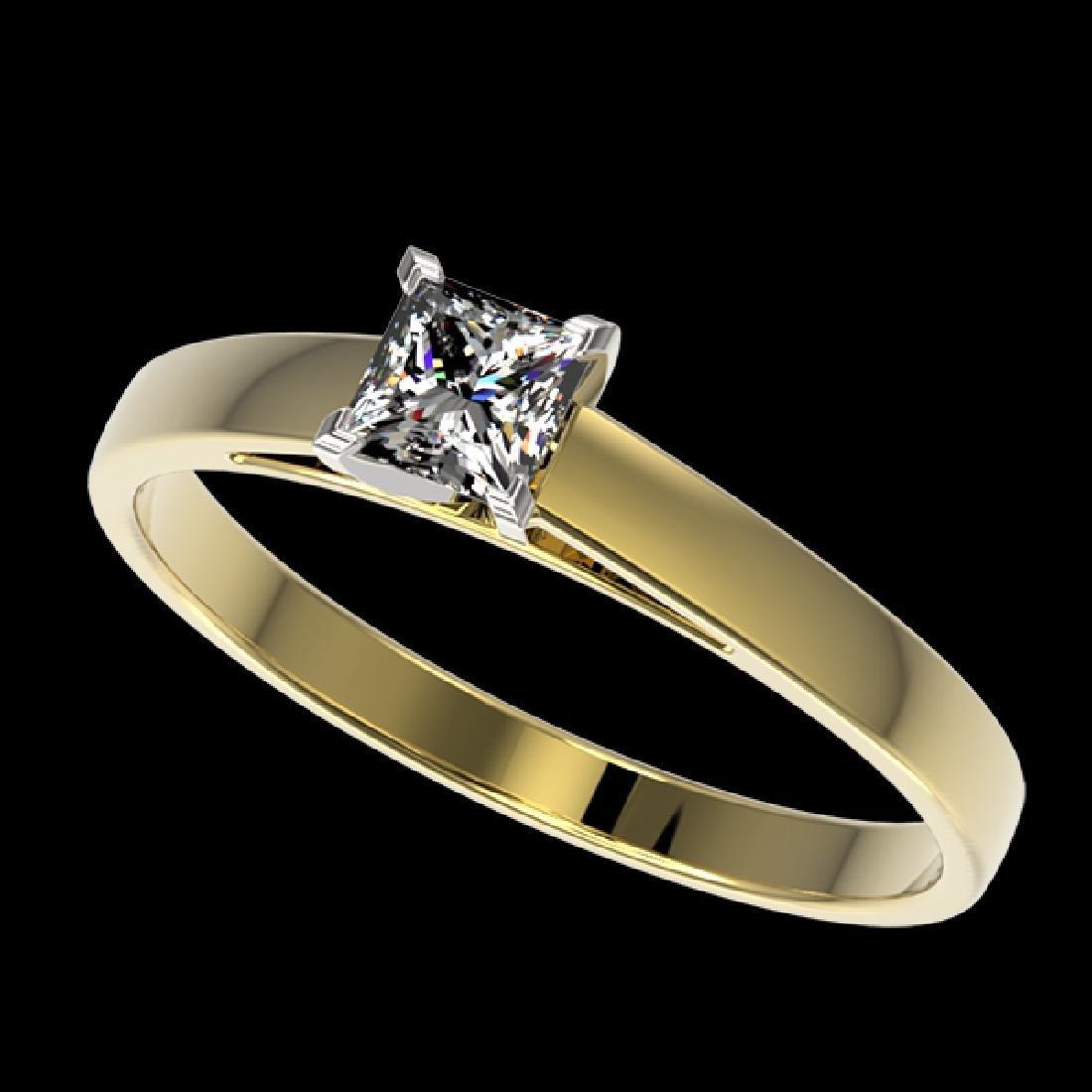 0.50 CTW Certified VS/SI Quality Princess Diamond