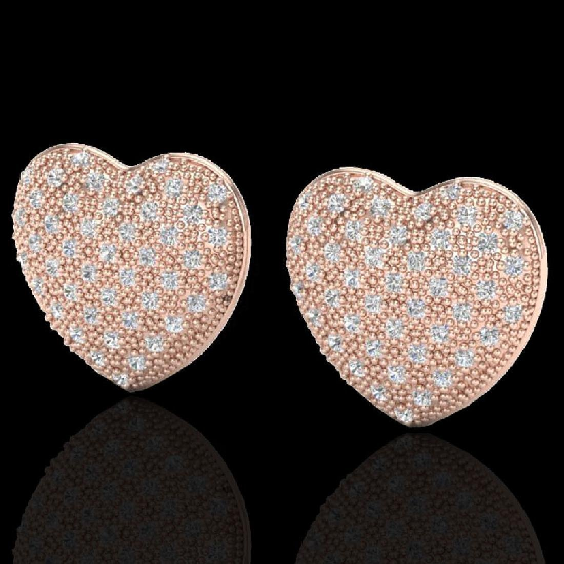 1.50 Designer CTW Micro Pave VS/SI Diamond Heart