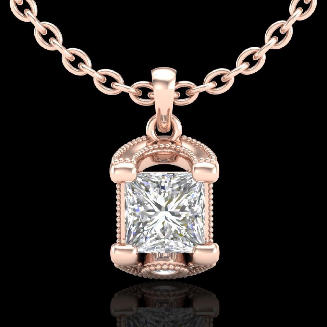1.25 CTW Princess VS/SI Diamond Solitaire Art Deco