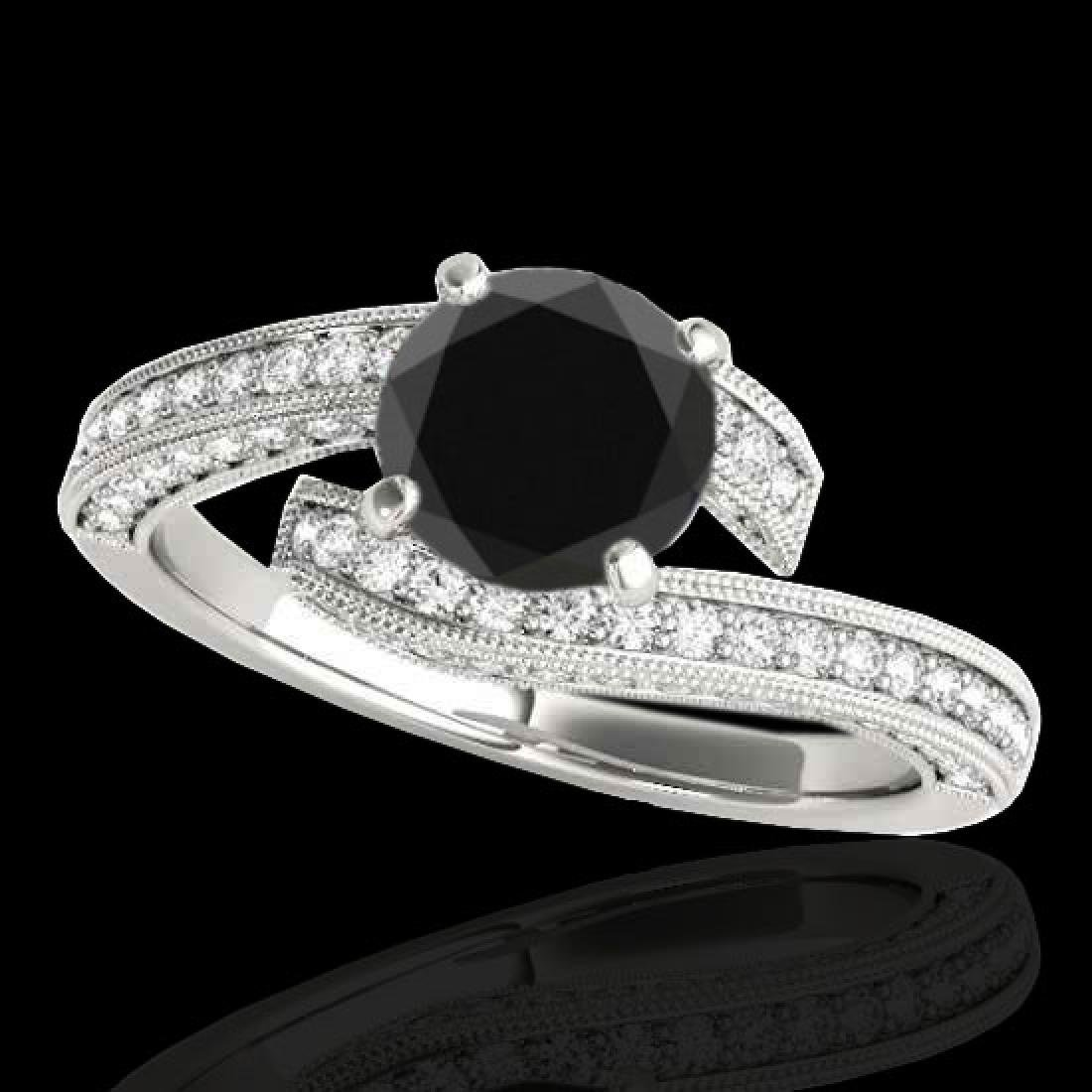 1.75 CTW Certified VS Black Diamond Bypass Solitaire