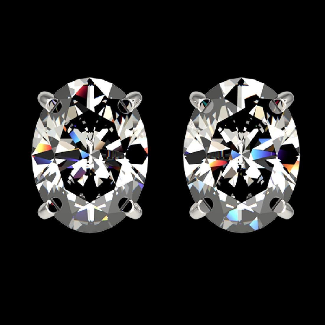 2.50 CTW Certified VS/SI Quality Oval Diamond Stud