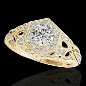 14 CTW HSII Certified Diamond Solitaire Antique Ring