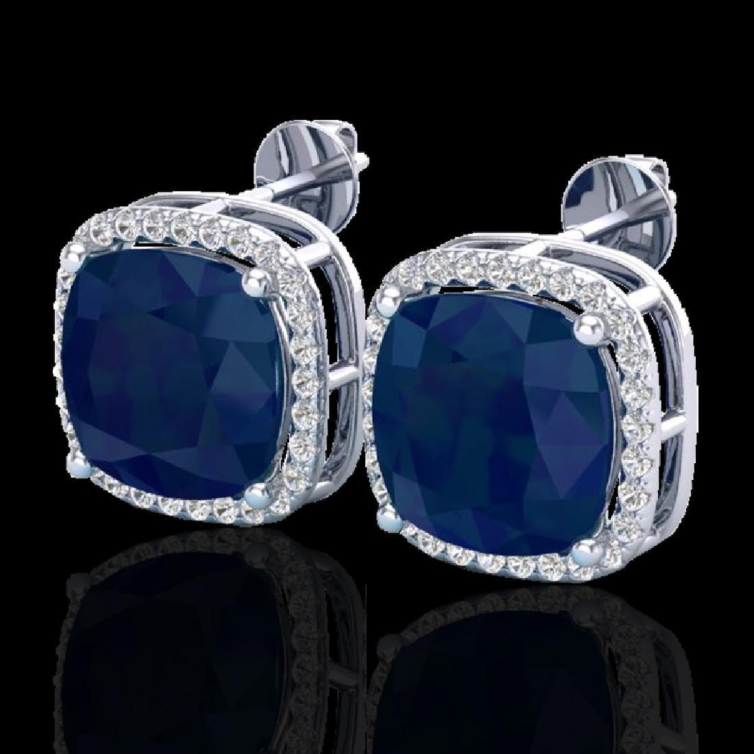 12 CTW Sapphire & Micro Pave Halo VS/SI Diamond