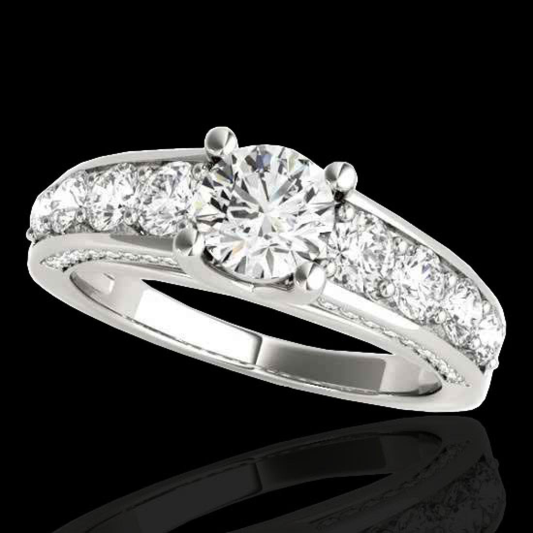 2.55 CTW H-SI/I Certified Diamond Solitaire Ring 10K