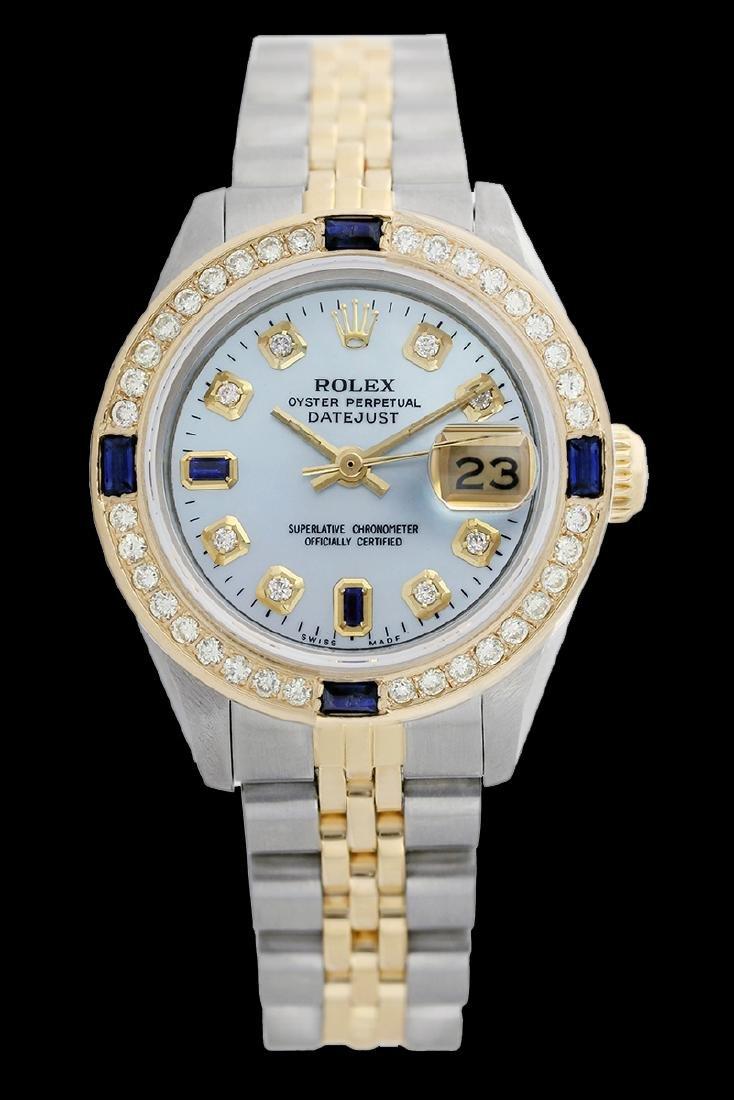 Rolex Men's Two Tone 14K Gold/SS, QuickSet,