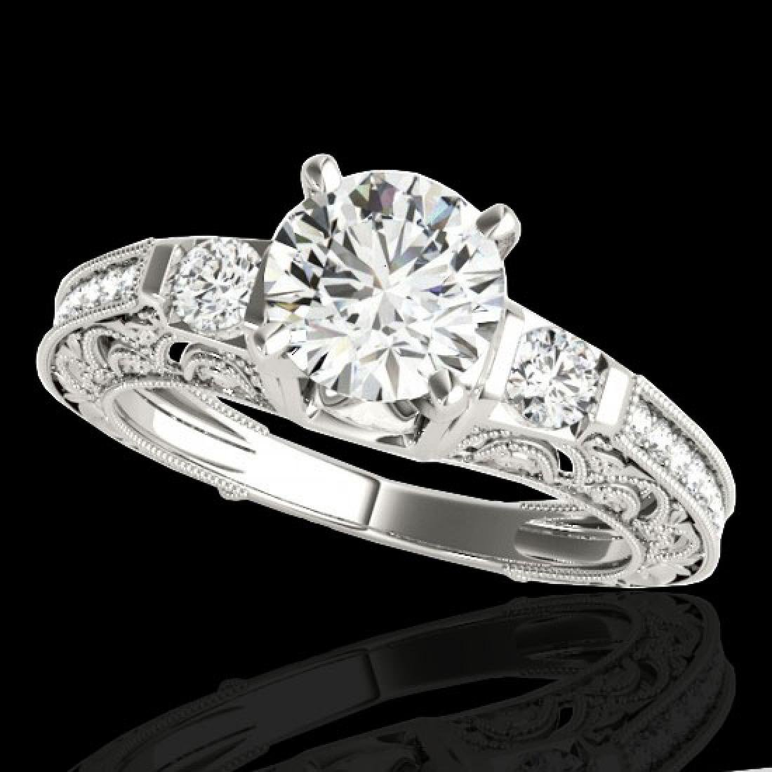 1.38 CTW H-SI/I Certified Diamond Solitaire Antique