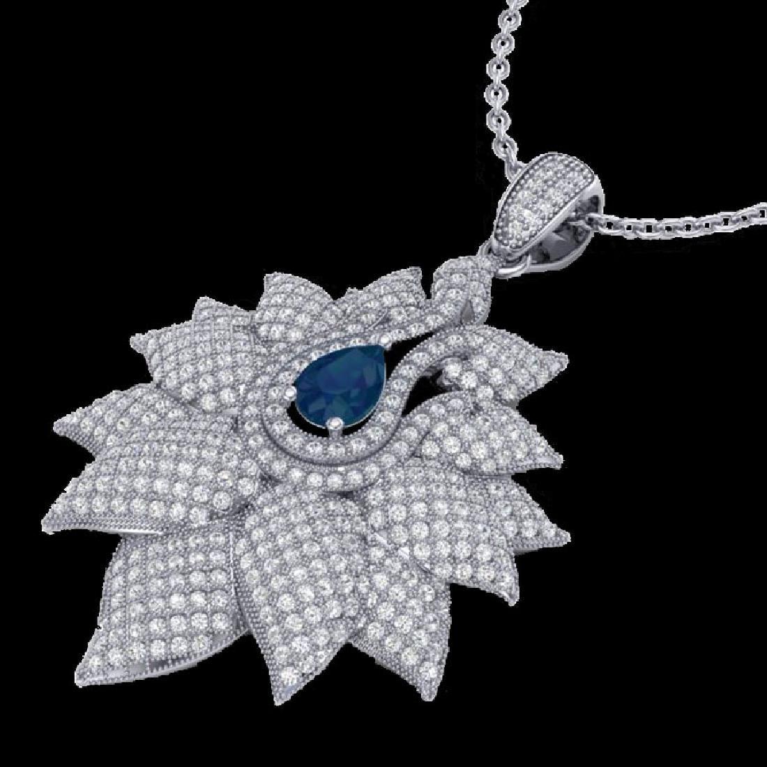 3 CTW Sapphire & Micro Pave VS/SI Diamond Designer
