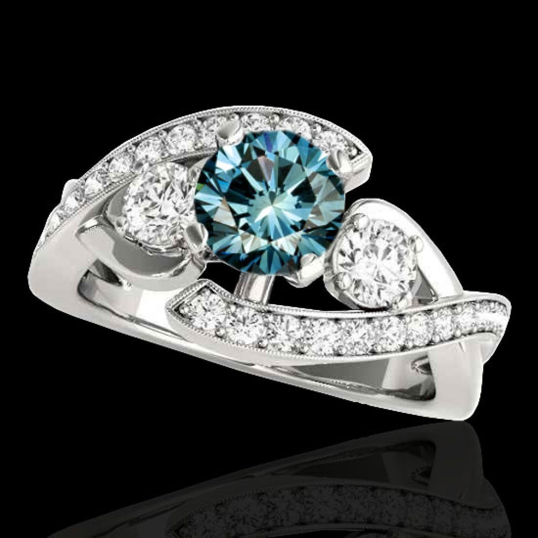 1.76 CTW SI Certified Fancy Blue Diamond Bypass